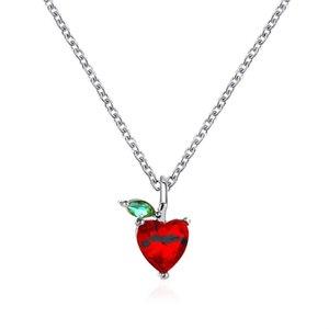Kiraz kolye Meyve Ananas Elma kolye kolye ile elmas Gül Altın ve Gümüş Alaşım Takı