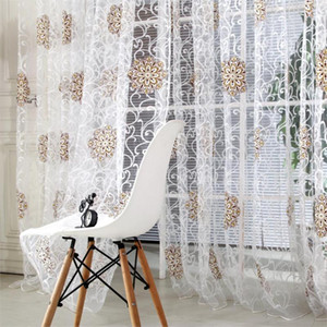 Tulle Sheer Curtain For Living Room Flower Ball Kitchen Voile Sheer Curtains Bedroom Curtains Home Decor