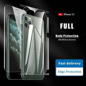 Frente + trasero de cuerpo completo protector de pantalla para iPhone 11 Pro Max X XR XS HD Mate borde de la cubierta completa no de vidrio