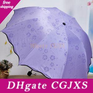 3 -Folded Anti antipoussière -Uv Umbrella Dome Magic Umbrella Pare-soleil Fleur Portable Crème solaire Outdoor Gear Rainy Umbrella Lx1638