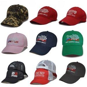 Donald Trump 2020 Baseballmütze Patchwork Gewaschene Außen Make America Great Again Hat republikanischen Präsidenten Retro Sports Cap Wholesale # 586