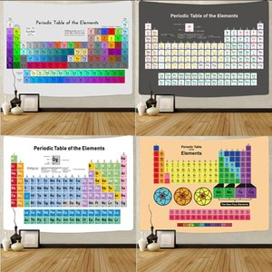 200*150cm Periodic Table of Elements Tapestry Wall Hanging Decor For Student Learning Chemistry Wall Beach Blanket DIY Customizable