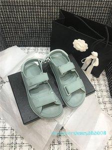 Mulheres Strass Comfrot Sandals Moda Dad Sandália Colecção da Primavera, do Summer Beach Lady Flattie novo Tamanho 35-40 Y04