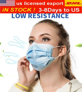 DHL & amp; UPS delivers free! Factory disposable mask, 3-layer dust-proof breathable belt ear buckle, male and female children's mask