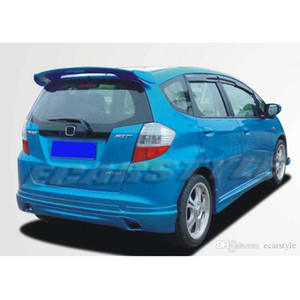 for Fit Jazz 2009-2013 GE8 Spoiler MG style Carbon Fiber
