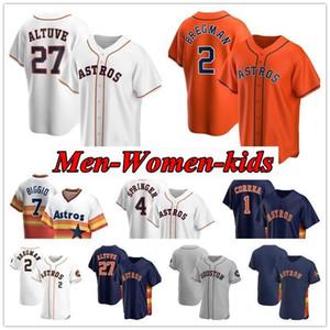 2020 enfants Hommes Femmes Astros 27 Jose Altuve Maillots George Springer Michael Brantley 10 Yuli Gurriel 2 Alex Bregman maillot Verlander
