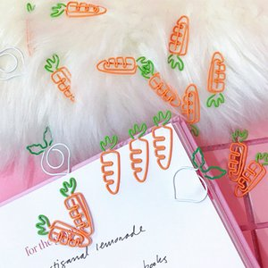 100 pcs lot Beautiful Pink carrot White radish bookmark planner paper clip material escolar bookmarks for book stationery
