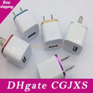 Alta Qualidade 5v 1a carregador de parede plug EUA Ac Power Adapter Início Travel Recados única porta USB Charger Por Telefone Inteligente, Telefone Móvel, colorido