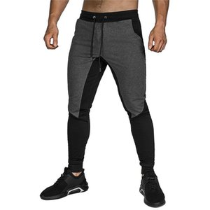 Men Sports Running Pants Sweatpants Fitness Tights Joggers Skinny Leggings Men Gyms Sportswear ZipperJogger Pants Trousers