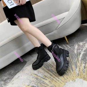 Prada Los creadores del tobillo botas Martin botas Rois y las botas de combate de nylon bota militar boquilla nylon inspirado adjunta en el tobillo con correa