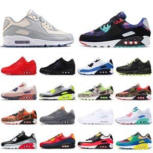 nike air max airmax 90 TASARIMCISI Erkek Koşu Ayakkabı Klasik 90s Kızılötesi Üçlü Siyah Beyaz Kadın Eğitmenler Moda Marka Sneakers Sarı Spor Ayakkabı Bred