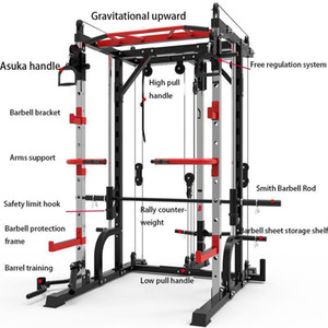 جودة عالية جديد سميث آلة الصلب القرفصاء رف الجنزير الإطار اللياقة البدنية الرئيسية جهاز التدريب الشامل شحن القرفصاء مقاعد البدلاء الصحافة الإطار 1