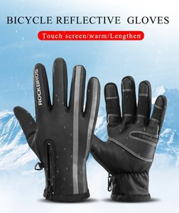 Wholesale Winter Touch Screen Cycling Gloves Warm Rainproof Full Finger Road Bike Gloves Windproof Thermal Mitten For Bicycle Skiing