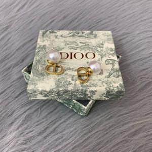 pendientes de perlas carta de joyas 2020CD mujeres temperamento pendientes de CD femenina di familia femenino