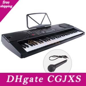 61 Keyboard Music Key elettronico digitale elettrica Piano Organo con microfono