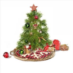 Рождественская елка юбка красного плед Снежинка дерево Юбка XAMS партия Derocationg Supplies Window Tree Christmas Decor Gift Ornamention LJJP356