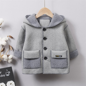 British Children Plus Velvet Windbreaker Children's Plaid Suit Long Sleeve Coat Jacket Boys Girls Casual Comfortable Fashion E069