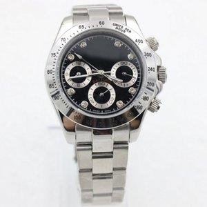 남성 39mm 자동 시계 없음 배터리 작은 다이얼 작업 스테인레스 스틸 청소 운동 손목 S5 시계 시계