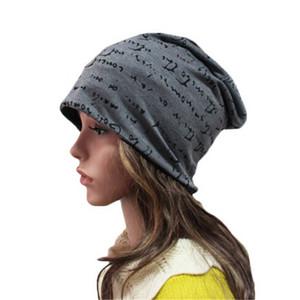CUHAKCI turbante Cap Mujer Skullies Casual Delgado Beanie sombrero Carta sombrero unisex de Hip-Hop Hombres Sombreros Sombreros Gorros algodón