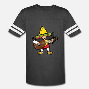 Retro Vintage stile grunge Cinco De Mayo messicani uomini della maglietta di stampa del cotone con girocollo sottile fitness camicia Casual Pattern Primavera 100%