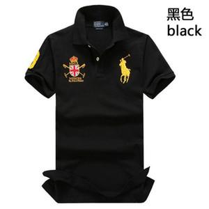Quente bordado tigre polo camisas masculinas t-shirts marca marca de manga curta verão negócios luxo casualLauren tee.ralph.