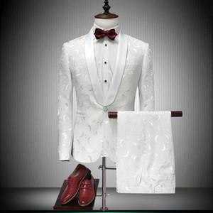 Italian Men Tailcoat White Wedding Suits For Men Groomsmen Suits 2 Pieces Peaked Lapel Groom Wedding Dress Men Suits LJ200923