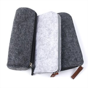 Cosmetic Bags Felt Round Square Makeup Cosmetic Bag Brush Fashion Pen Pencil Case Pouch Box free shipping