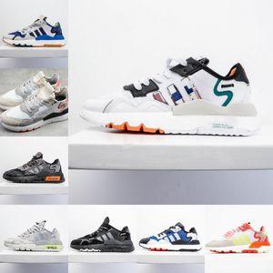 Riflettente formatori Nite Jogger Running Shoes Womens Mens scarpe da corsa nucleo nero bianco rosso scossa classico jogging Designer Sport Sneakers