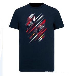 F1 Formula Yarışı Kısa Kollu Tişört Takım Takım Elbise 2019 Yarış Suit Casual Yuvarlak Yaka Tee Hızlı Kurutma En Hızlı Kurutma Kısa kovanı