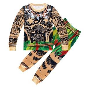 Yeni Karikatür Seti İçin Bebek Boys Maui kılık kıyafetleri Noel Pijama Çocuk Butik Kıyafetler Çocuklar Eşofman 3-10 Yaşındaki