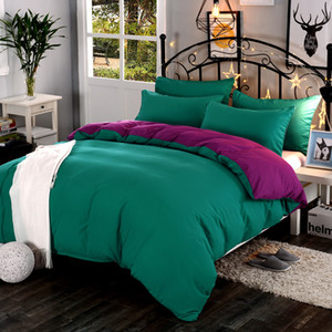 Pure Color Four-piece Set Thick Australian Velvet Brushed Wool Imitation Cotton Single Duvet Cover Bed Sheet Bed Cover