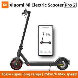 Xiaomi Mi Elektro-Scooter Pro 2 Smart E-Scooter Skateboard Mini faltbare Hoverboard MIJIA Pro2 patinete Erwachsener 45km Batterie