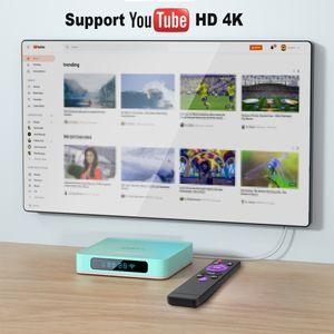A95X R5 Android TV Box 10 10.0 4 GB 32 GB 64 GB 128 GB Rockchip RK3318 4K HD 1080P YouTube Netflix Google tienda Set Top