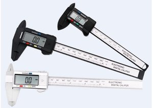 Aracı İçin Mekanik Parçaları Ölçme Dijital Kumpas 150mm 6 inç LCD Dijital Elektronik Karbon Elyaf Sürmeli Kaliper Ölçer Mikrometre