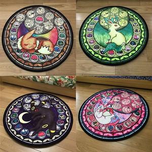 Elf rotonda Tappeto Cute Cartoon pavimento Tappeto per Soggiorno Camera da letto Camera dei bambini antiscivolo stuoia rotonda Mat Carpet