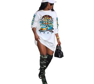 Women Dresses Sexy Long Sleeve Letter Print Sports Skirt Designer T Shirts Dress Fashion Casual Printed Ladies Clothing Plus Size S-4xl44