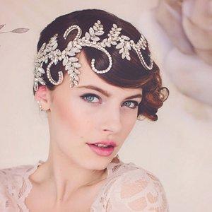Vintage Tiara Handmade Crown freie Kristallbrauthaar-Zusätze Stirnband Frauen Hochzeit Haarschmuck Kopfschmuck Haar Vine C19041101