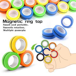 Antistress Finger anelli magnetici decompressione barretta gioca Stress Relief Spinner adulti regali di Natale dei capretti della novità 3pcs / set