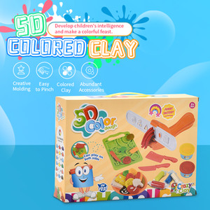 Children creative DIY 5D colored clay multi color more accessories die puzzle toy both boy and girl