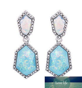 Free shipping! Glitter Drusy Opal Earring 14 Color Gold Plated Shinny Rainbow Opal Ear Stud Women Fashion Jewelry