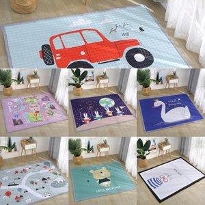 ins Nordic Nordic cojín de la historieta de dibujos animados lindo engrosada lavable de algodón cuatro estaciones colchoneta lavable alfombra de escalada infantil