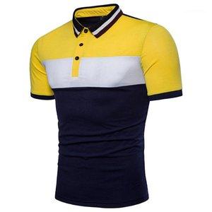 Trois Polo mode couleur lambrissé Lapel cou à manches courtes Polos été Hommes Hauts Designer Mens Casual