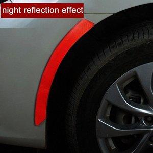 جديد عاكس قطاع السيارات ملصقات تحذير تحذير عجلة حافة الحاجب السلامة الضوء العاكس واقية سيارة لاصقة التصميم Wr6V #