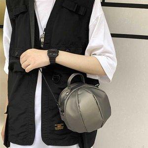 NEW Men's Small Shoulder Bag Messenger Bag Mini Casual Fashion Brand Boys Round Hat Design Nylon Cloth Personalized Sports