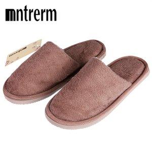 Mntrerm Inverno New Soft Plush Algodão Indoor Non-Slip Andar Chinelo homens peludos sapatos quente para o quarto