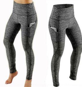 2019 ioga Yiwu altos apertados cintura levantamento hip Yoga calças leggings calças esporte fino lado bolso apertado 8SToL