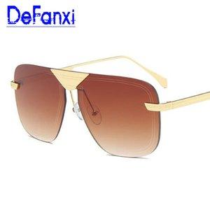 Солнцезащитные очки большие квадратные мужчины мода оттенки 2021 старинные ретро коричневые линзы мужские бездействующие очки роскошный дизайнер UV400
