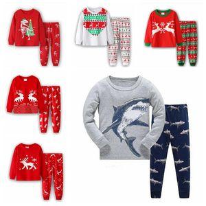 Дети Рождество Пижамы для мальчиков Пижамы Enfant Девушки PJs Динозавр Pajama наборы малышей Детские Дети Девочка Pijama мальчик пижамы