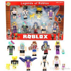 Nine Figure Pack ROBLOX Game 7cm Model Dolls Set Cartoon Anime Action Figures Building Blocks Birthday Gifts For Children Kids Toys