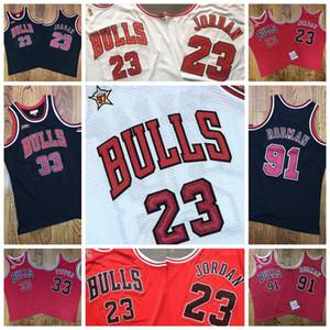 ChicagoBullsMen 23 Michael Jrdan 33 Scottie Pippen 91 Dennis Rodman 1996-97 HardwoodClassics Authentic Player Jerseys Jersey